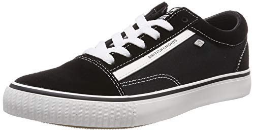 British Knights Herren Mack Sneaker, Schwarz (Black/White Suede 01), 43 EU