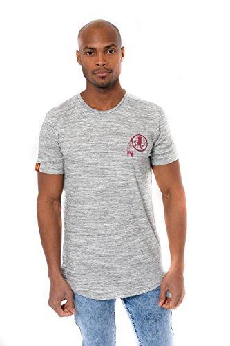Icer Brands NFL Herren T-Shirt Active Basic Short Sleeve Tee Shirt, Space Dye Farbe, Herren, JTM2136A-WR-Large, grau, Large - Dye Herren T-shirt