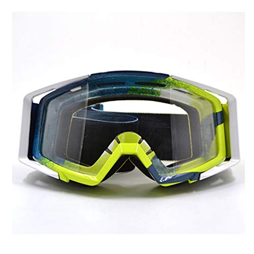 Motocross-Brille Helm Racing Gafas Dirt Bike ATV-Schutzbrillen Klar getönte Brille Off Road einstellbar (Bike Brillen Getönte Dirt)
