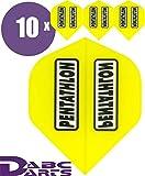 ABC Darts Unisex - Adulto Pentathlon Classic Dart Flights Giallo Classico