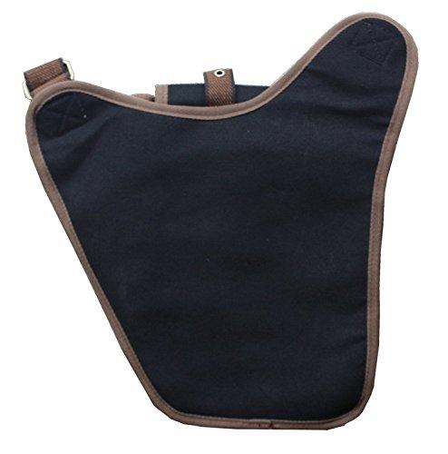 Valuker FH03-Black uomo-borsa a Spalla Casual tela sbilanciare zaino borsa tracolla Sling Crossbody petto Bag Donne nero Nero