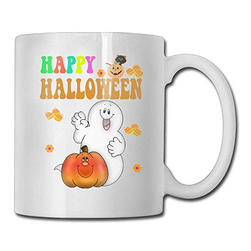 Happy Halloween Pumpkin 11oz Ceramic Coffee Mug Funny Birthday Christmas and Inspirational Gift