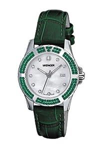 Reloj Wenger 70313 de caballero de cuarzo con correa de piel verde de Wenger