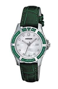 Wenger Herren-Armbanduhr Analog Leder grün 70313