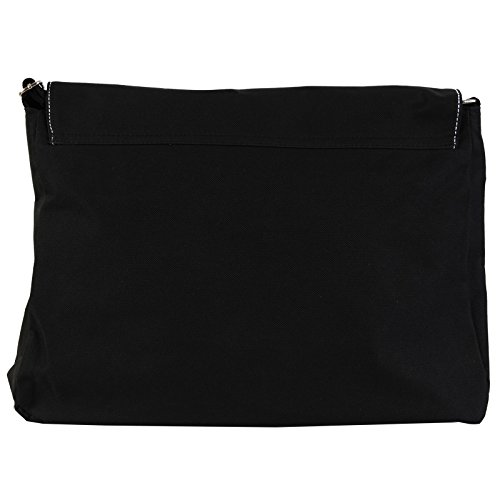 Fancy A Bag Borsa Messenger nero Waving Piano Keyboard Keys Waving Piano Keys Making Golden Music Notes