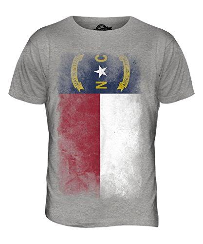 CandyMix Bundesstaat North Carolina Verblichen Flagge Herren T Shirt Grau Meliert