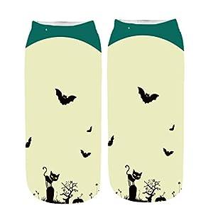 Skxinn Unisex Winter Sportsocken,Halloween Pumpkin Bedruckte Kurze Socken/Lässige Niedliche Söckchen für Frauen,Weihnachtsdruck 3D Socken