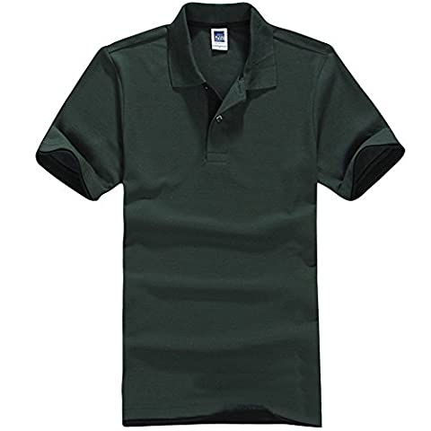 Mens Solid Color Casual Top Tee Stand Collar Short Sleeve