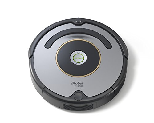 iRobot Roomba 615 Saugroboter (reinigt alle Hartböden und Teppiche, Dirt Detect Technologie, 3-Stufen-Reinigungssystem) grau/schwarz