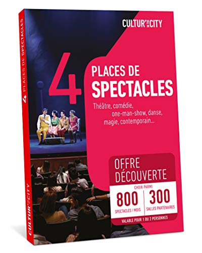 CULTUR'IN THE CITY Coffret Cadeau - 800 Spectacles DECOUVERTE - 300 Salles Partenaires Partout en France Théâtre, Comédie, One Man Show, Danse, Magie et Autres !