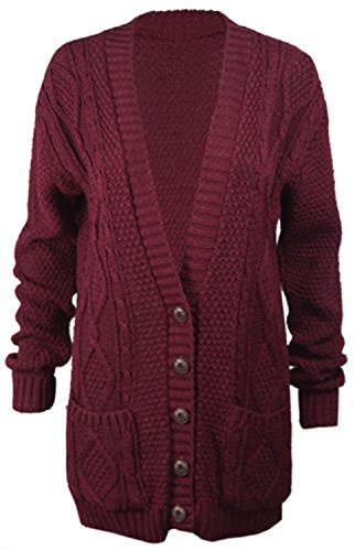 Funky Fashion Shop - Gilet - Femme Rouge - Bordeaux