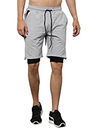 SKULT Men Grey Melange Shorts