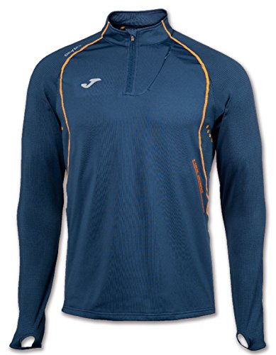 JOMA OLIMPIA FLASH SWEATSHIRT 1/2 ZIP RUNNING NAVY M MARINEN