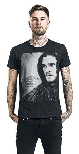 Game Of Thrones Jon Snow - I Am The Sword In The Darkness T-Shirt schwarz Schwarz