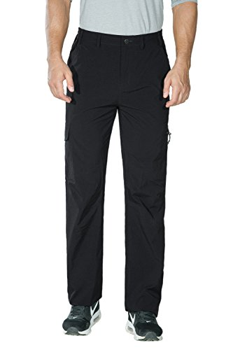 Nonwe Men's Belted Quick Dry Side-Elastic HIking Cargo Trousers