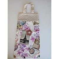 Bolsa de pan de tela Flores