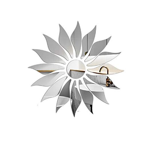 ADLFJGL Kreative Persönlichkeit Sonnenbrillen Wandaufkleber Acryl Stereo Wohnzimmer Schlafzimmer Wandaufkleber Dekoration Aufkleber SilberWandsticker