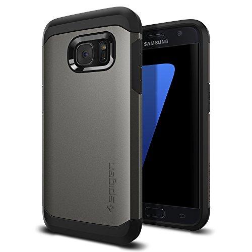 Coque Galaxy S7, Spigen [Tough Armor] HEAVY DUTY [Gunmetal] Protection Extreme / Coque Robuste mais Fine Double Couche, Coque pour Samsung Galaxy S7 (2016) - (555CS20018)