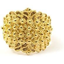 Marrocu Gioielli - Fede sarda campidanese argento dorato 4 fili
