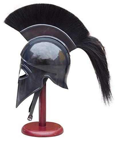 Sara Nautical Griechischer Korinthischer Helm Antikes Mittelalter Ritter Spartan Replik Helm mit schwarzem Pflaume -