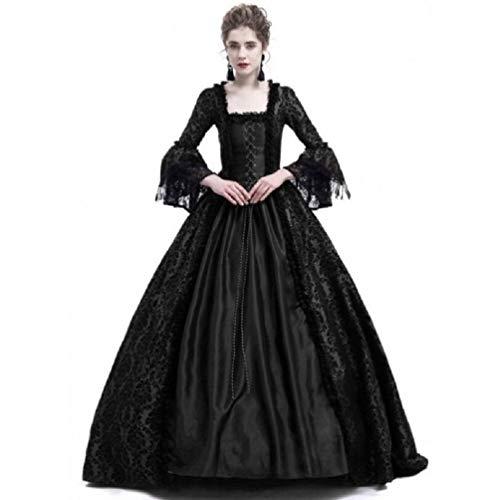 (Shi18sport Viktorianische Gotische Georgische Periode Kleid Halloween Maskerade Ballkleid Reenactment Kleidung, XL)