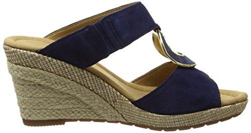 Gabor Sizzle - Sandales Compensées Femme Bleu (Blue Suede/Perlato/Jute)
