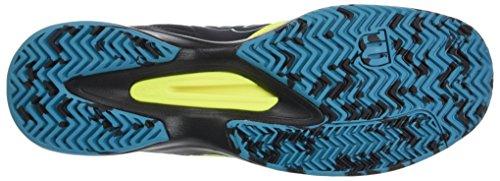Wilson Kaos Comp Safety Yel/Bk/Enamel Blu 12, Chaussures de Tennis Homme Jaune (Safety Yellow/black/enamel Blue)