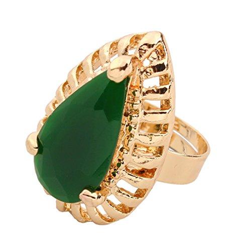 QIYUN.Z Kette Anhänger Gold Frauen Kette Collier Harz Schmuck Ohrring Armbandring - 4