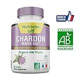 Chardon-Marie Bio 90 gélules de Nutricite-bio- Extrait à 80% de Silymarine - Soulage le transit intestinal -Efficace en quelques jours-Chardon marie 200mg pour soulager le foie et la digestion