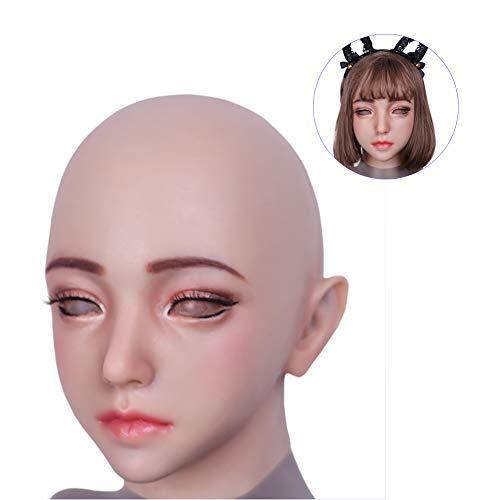 WANGXN Realistische Silikon weibliche Maske Crossdressing für Crossdresser Masquerade Pseudo Street Cosplay