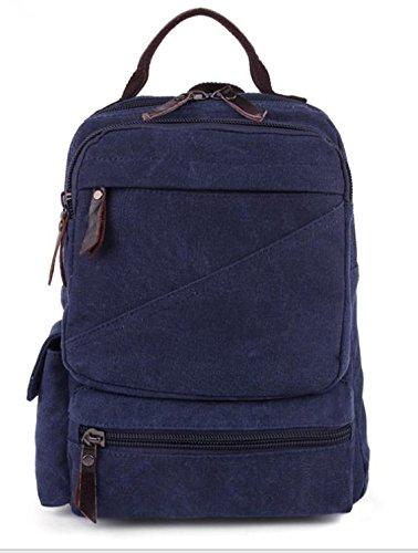&ZHOU Borsa di tela, duplice uso multi-funzionale di tela borsa a tracolla borsa da viaggio retrò per il tempo libero, casual borsa a tracolla, borsa di petto, borsa messenger , deep blue deep blue