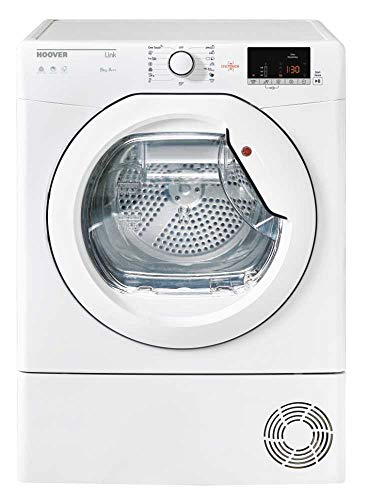Hoover HL H9A2DE-S Freestanding Front-load White 9 kg A++ - Tumble Dryers (Freestanding, Front-load, Heat pump, White, Buttons, Rotary, Left)