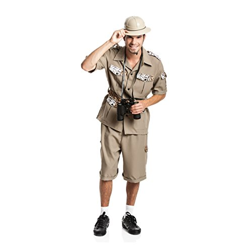 Kostümplanet® Safari-Kostüm Herren Dschungel-Kostüm Forscher Karnevals-Kostüm Größe - Entdecker Kostüm Männer