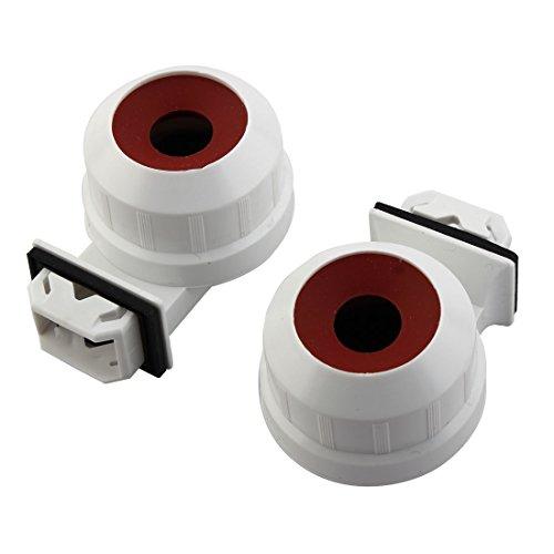 sourcingmap® T5 plastique résistant à eau Tube Embout Douil lampe ampoule Support feu 2 PCS