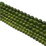 Perline di giada nefrite naturale canadese per braccialetto collana caviglia fai da te, Cristallo metallo, 8mm