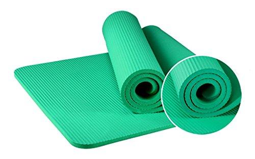 Yuhao Professionelle Yogamatte/rutschfeste verlängerte Yogamatte/15 mm weiche geschmacklose Yogamatte/Gymnastikmatte, Grau
