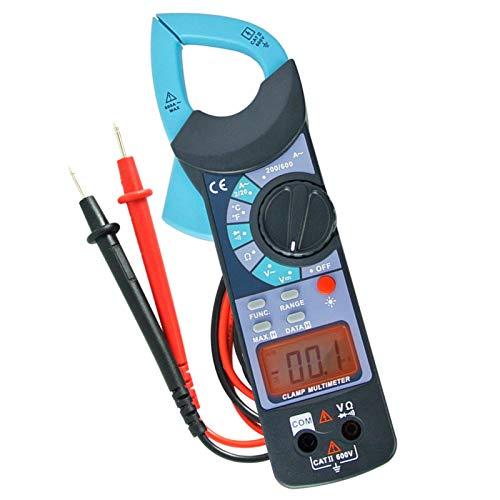 Digital Clamp Meter DC AC Akustische Durchgangsprüfer CE Kennzeichnung Lesen 1999 LCD Hintergrundbeleuchtung
