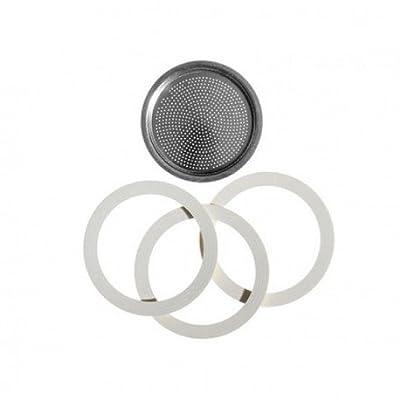Bialetti 0186002 Accessoires Café et Dosette Blister INOX 3 Joints + Filtre