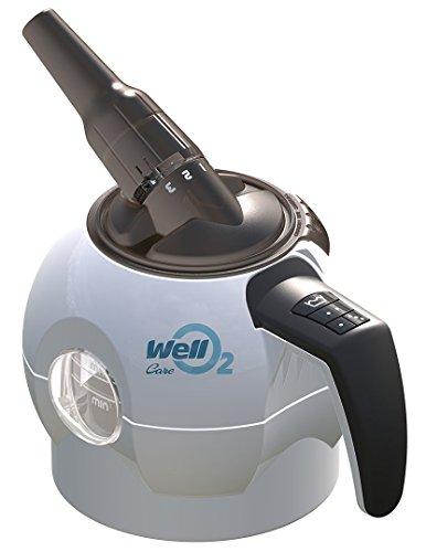 WellO2 Atemtrainer Care - Atemtrainer Set mit Nasenmaske, Verlängerungsschlauch und 3 Mundstücke