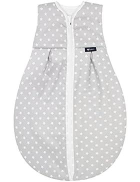 Alvi Kugelschlafsack Thermo | Baby-Schlafsack | Vierjahreszeiten Kinderschlafsack ärmellos aus Baumwolle | Wattierter...