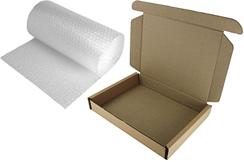 Laptop Versand Post Box 50x 36x 7cm stark Safe Medium Paket + 3M Luftpolsterfolie