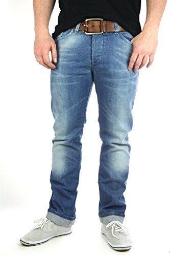 DIESEL Darron ORNV8 Jeans pantaloni uomo, uomo denim pantaloni - Blu, 30W / 34L, blu