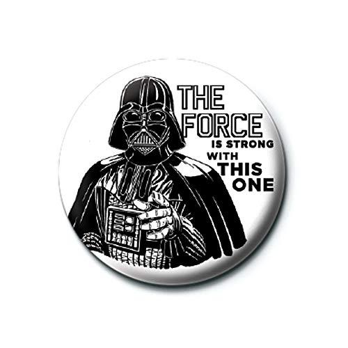 Pritties Accessories Echte Star Wars Darth Vader Die Kraft ist stark Button Badge Pin Badge Retro Lucasfilm
