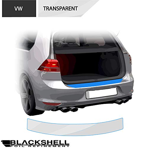 BLACKSHELL Ladekantenschutz inkl. Premium Rakel für Golf 7 Variant Typ AU 2012-2019 Transparent - passgenaue Lackschutzfolie, Auto Schutzfolie, Steinschlagschutz, Stoßstangenschutz