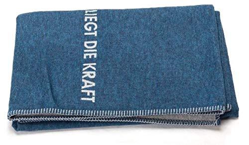 David Fussenegger - Sylt - BW-Decke mit Zierstich - In der Ruhe liegt die Kraft- Navy/blau - 140 x 200 cm -