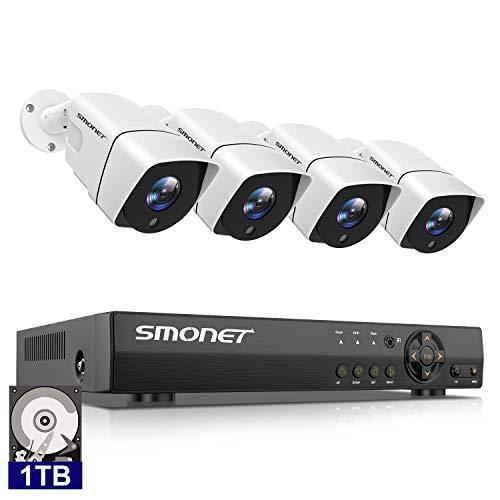 4Canaux 1080P HD DVR Kit, Système de Caméra Surveillance...