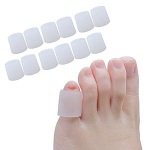 Sumifun gel zehenkappen, 6 Paare/12 Stück Pack zehenschutz silikon für kleine Zehen, Zehenkappen, Schutz Zehe, für Corns Remover, Callus Kissen, Bunion Behandlung