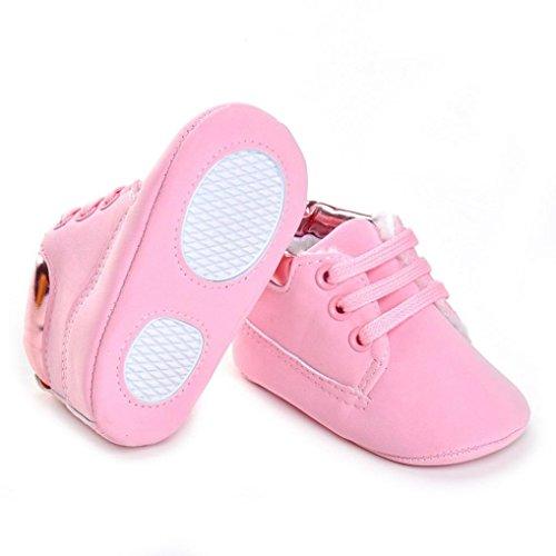 wholesale dealer fd0fc b240a ... Jamicy® Baby weiche Sohle Schuhe Mode Leder Mädchen Jungen Kinderbett  Schuhe Rosa hzcK9p9rqE