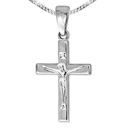 Crucifix Silbernes Kreuz Silber 2 Unzen Antique Finish