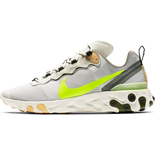 Nike React Element 55, Scarpe da Atletica Leggera Uomo, Multicolore Aura Spruce Fog/Barely Volt 000, 45 EU